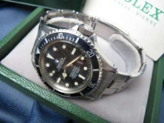 Original 1967 Rolex Submariner Stainless Black Dial Ref 5512 Boxes