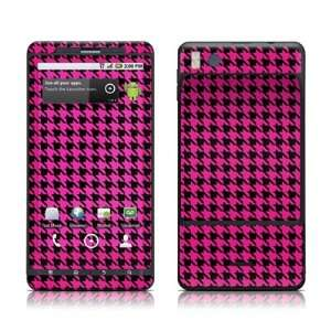 Pink Houndstooth Design Protective Skin Decal Sticker for