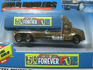 Hotwheels Toys R Us Real Gold Tank Truck MIP 1999