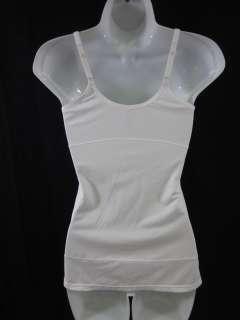 FLEXEES White Body Sleeveless Tank Top Shirt Sz M