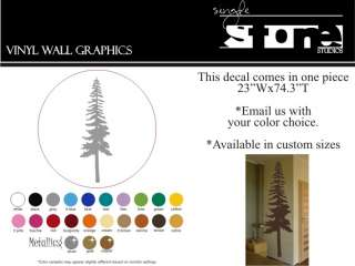 Wall Vinyl Art Decal Sticker   Perfect Tall Pine Tree