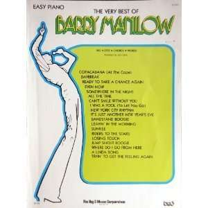 of Barry Manilow: Easy Piano: The Staff of Big 3 Music Corp: Books