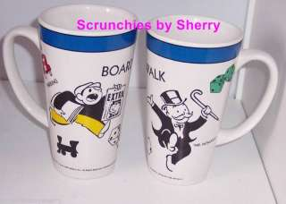 Mr Monopoly Boardwalk Collector Tall Coffee Mugs 1999