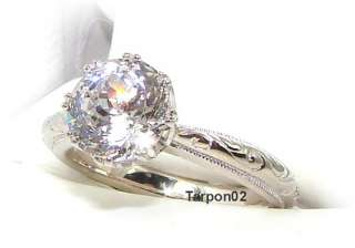 Tacori Diamonique Epiphany 2.05ct. BLOOM Cut w/Acc qvc Ring 8 NEW