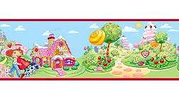 nEw STRAWBERRY SHORTCAKE Girls Room WALL PAPER/BORDER