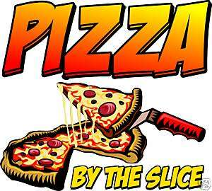 Pizza by the Slice Restaurant Concession Food Decal 24