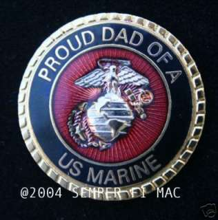 PROUD DAD OF A US MARINE PIN FATHER SON DAUGHTER WM WOW