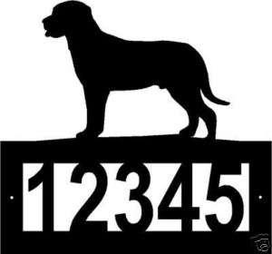 Custom GREATER SWISS MOUNTAIN DOG ADDRESS SIGN Steel
