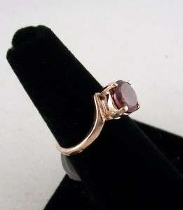 RUBY CUBIC ZIRCONIA ROSE GOLD PLATED RING, NEW, GIFT BOXED, R1