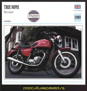 1989 TRIUMPH BUCCANEER British MOTORCYCLE PICTURE CARD