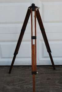 ADJUSTABLE WOODEN TRIPOD FOR TELESCOPE SURVEY EQUIPMENT ETC.