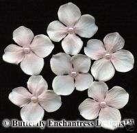 Blush Hydrangea Flower Bridal Hair Pins Veil Wedding