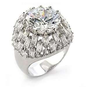Jewelry   13Carat Rosette Cat Eye CZ Ring SZ 8 Jewelry