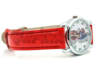 Brand New Super Mario Bros Red Leather Wrist Watch QT1068