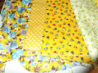 Yellow Quilting Cotton Fabrics Floral Prints Cotton CUTE