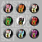 MANEKI NEKO Pinback Buttons Pins   Super Lucky Cat