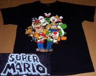 super MARIO bros SHIRT xl LUIGI wii NINTENDO toad YOSHI