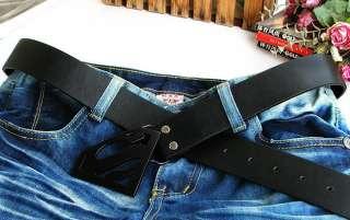 Superman logo fashion Metal Buckle leather Belt BSU9B