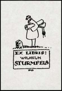 Lot of 7 Exlibris by German Artist A.M. SCHWINDT 1920