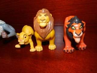 Scar Rafiki Monkey Figure LOT Disney McDonalds Burger King Toy