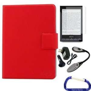 Dorks Slim Frameless Hard Case (Red), Screen Protector, LED Light