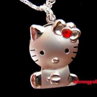 Cute Big CatPocket Quzrtz Necklace Chain Watch x 1