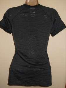 DAVIDSON Zebra Purple Print Burnout Tee Shirt Top S M NEW