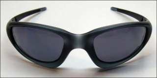 SEE PICS* Oakley MPH Straight Jacket Sunglasses Crystal Black/Grey
