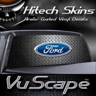 Vuscape Truck Rear Window Graphic  Ford Diamond Plate