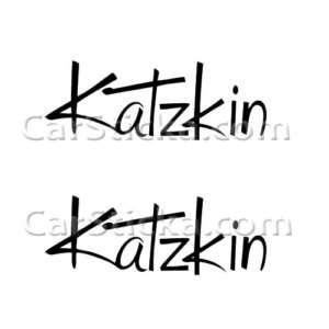Katzkin Leather Interior car vinyl sticker decal