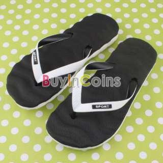 Men Sandal Slipper Flip Flop Wave Pattern Summer Beach Bathroom Shoes
