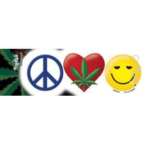 NSI   Peace Love and Stoned   Sticker / Decal Automotive