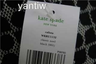 NWT:Kate Spade CLASSIC NOEL BLACK CALISTA LAPTOP BAG