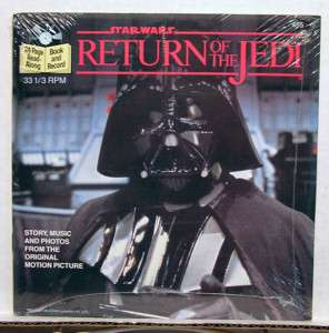 STAR WAR ROJ Read Along Book & RPM Record  SEALED