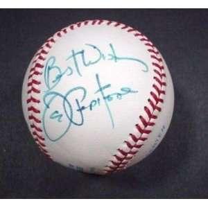 Joe Pepitone Signed Ball   Rawlings OBAL Best Wishes
