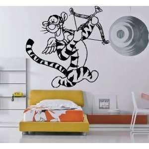 Cartoon Tigger with Bow and Arrows Kids Room Nursery