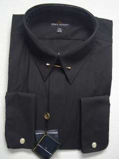 MENS STACY ADAMS BLACK DRESS SHIRT SIZE 16 1/2 NEW