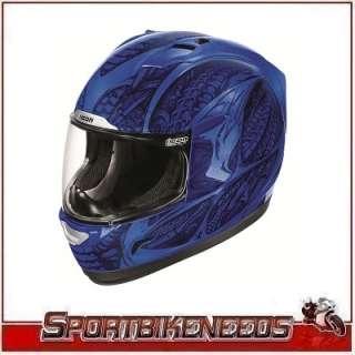 Icon Alliance Speedmetal Blue Black Helmet XLarge XL