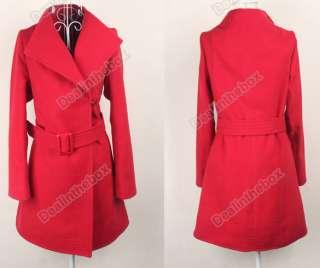 New Shitsuke Fashion Korean Womens Cashmere Overcoat Woollen 3 Colors