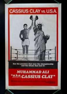 CASSIUS CLAY * 1SH BOXING MOVIE POSTER 70 MUHAMMAD ALI