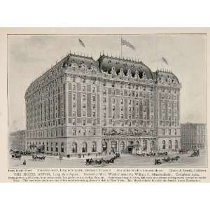 1903 New York City Print Hotel Astor Long Acre Square