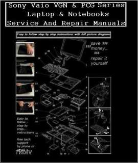 Sony Laptop & Notebook SERVICE REPAIR MANUALS ON CD ROM