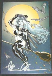 LADY DEATH Halloween Card  Signed Brian Pulido With COA