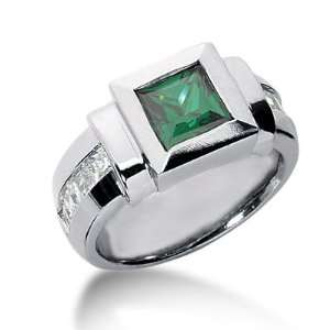Engagement Princess Cut Channel Fashion 14k White Gold DALES Jewelry