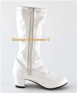 Children Girls Chacha 180 White Costume Cute Gogo Boots