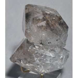 Quartz Herkimer Diamond Natural Twin Enhydro Crystal   New York, USA
