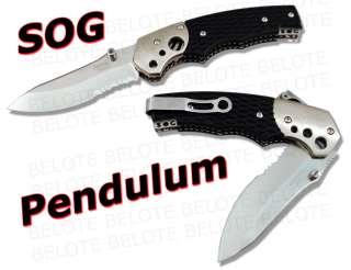 SOG Pendulum Serrated Folding Knife MB 02 *NEW*