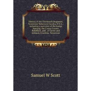 and . of Carter and Johnson Counties, Tennessee Samuel W Scott Books