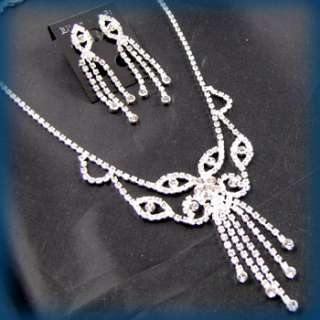 ADDL Item  Necklace Earrings Set rhinestone crystal