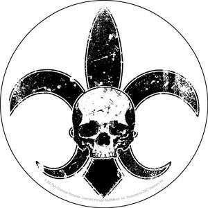 MY CHEMICAL ROMANCE skull / fleur de lis logo STICKER